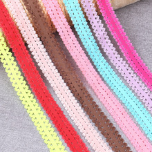 5yards/lot 3/4 20mm width Elastic Ribbon DIY Handmade Wedding Party Clothing Lace Trim Ribbons Hair sewing accessories