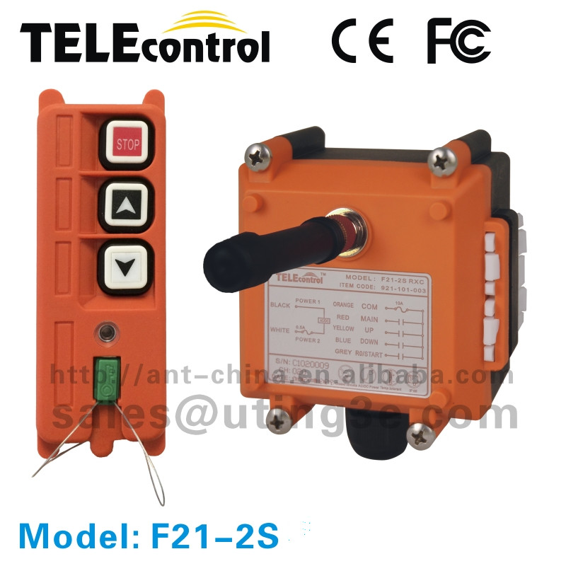 Good quality UTING wireless hoist remote control F21-2S 2 single speed button Up + Down(1 transmitter + 1 receiver)Good quality UTING wireless hoist remote control F21-2S 2 single speed button Up + Down(1 transmitter + 1 receiver)