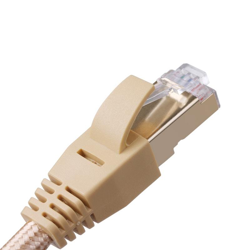 Image 3 - CAT7 Gigabit LAN Network Patch Cord Oxygen   free Copper STP Environmental Protection Network Jumper Seven Types Braided Wire 1M-in Computer Cables & Connectors from Computer & Office