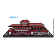 hot LegoINGlys city creators Street view Robie House Chicago United States micro diamond building blocks model bricks toys gift lepin 15010 2418pcs creator expert city street parisian restaurant model building blocks bricks legoinglys 10243 children toys