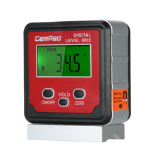 GemRed 2\3 button Level Box Angle Gauge Digital Finder Inclinometer Magnetic Base with Backlight Screen