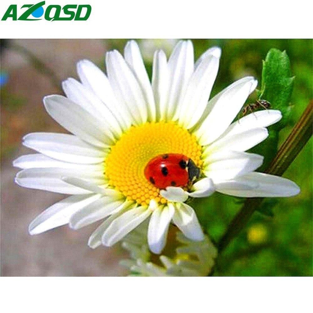 AZQSD gyémánt hímzés virágok teljes négyzet fúrószerszám 5D - Művészet, kézművesség és varrás
