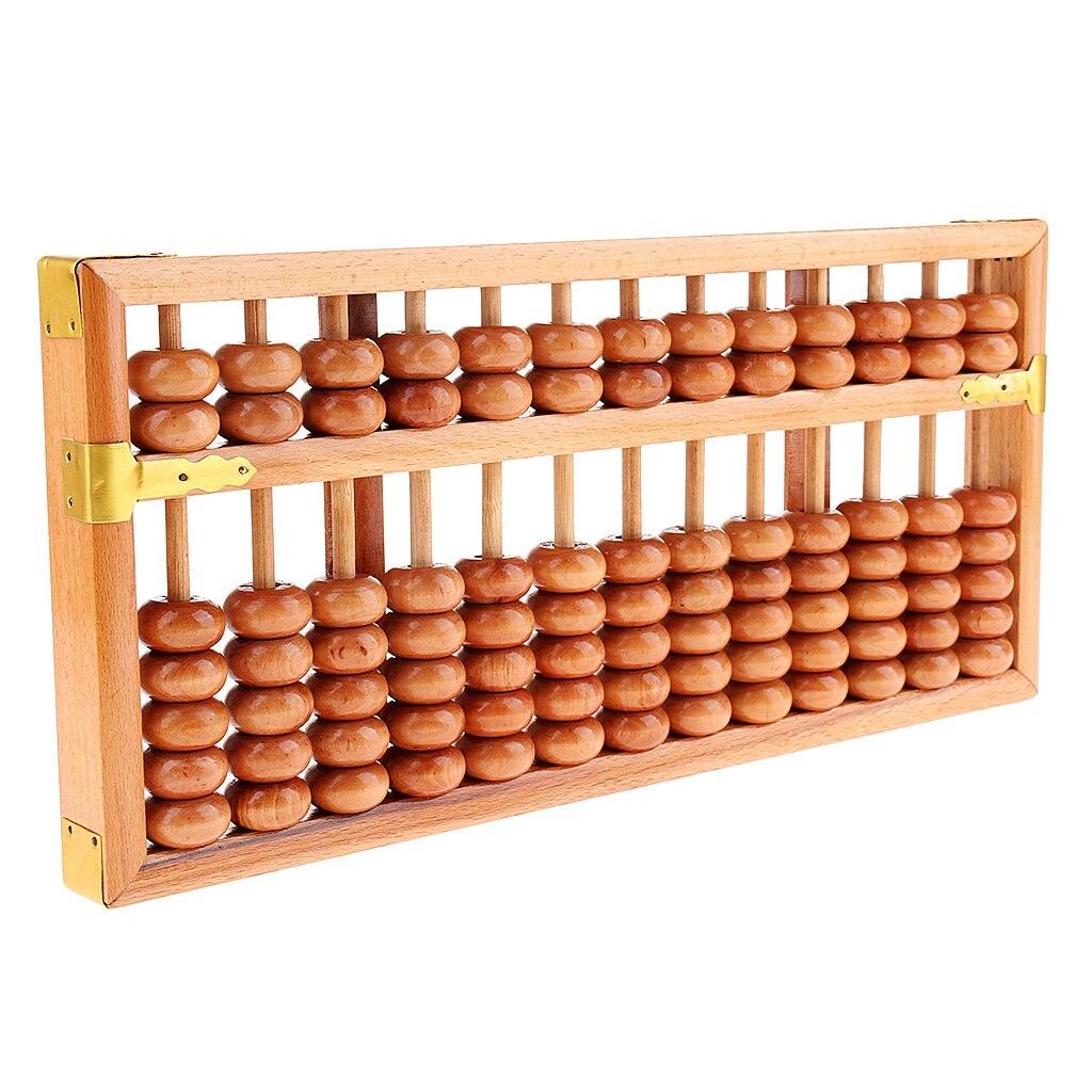 Chinois en bois 13 rangées Abacus calculatrice calcul arithmétique outil jouets éducatifs Collection cadeau pour enfants adulte