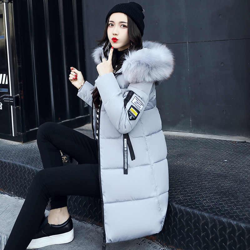 Bontkraag Vrouwelijke Jas Goedkope Winterjassen Pak Warme Gewatteerde Lange Herfst Jacket Hooded Parka Vrouwen Overjas Sneeuw Slijtage Plus size