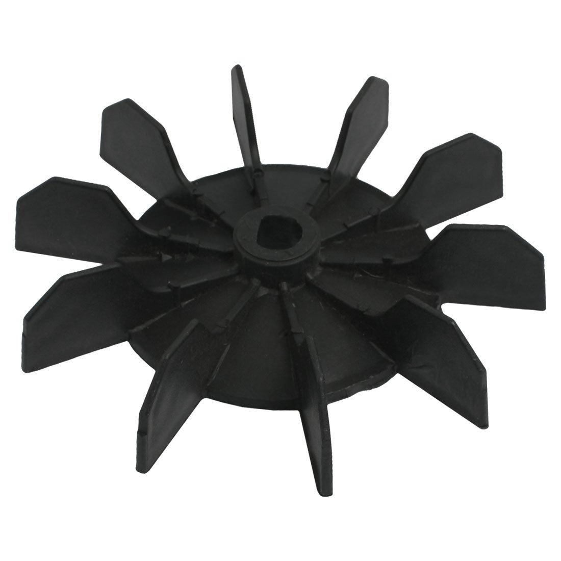 Air Compressor Motor Fan Replacement 0.5 Inner Bore 10 Impeller Blade Black It features ten blades to increase cooling system image