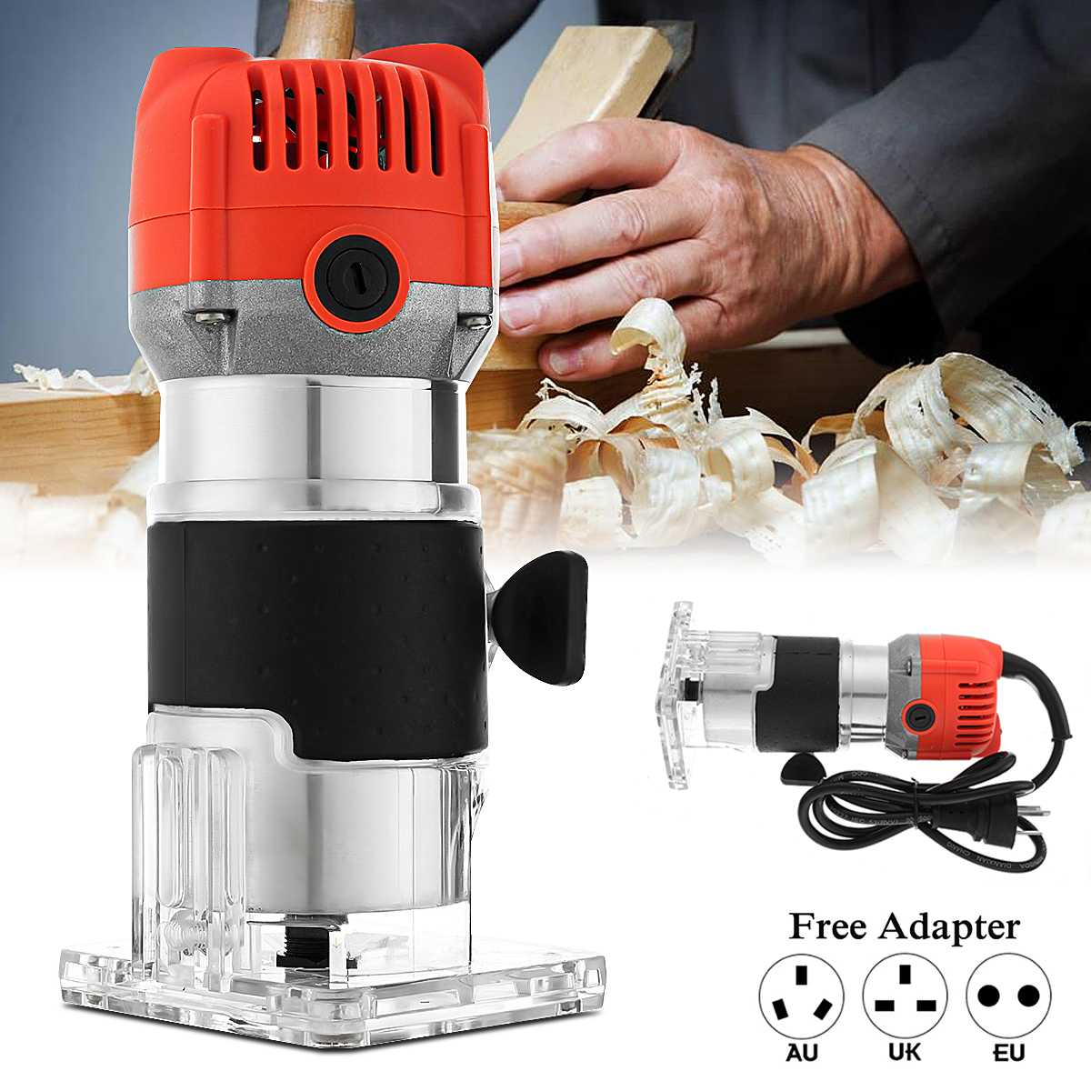 Adroit 800w 220v 30000rpm Woodworking Electric Hand Trimmer Wood Router Laminator Router Wood Diy Carving Machine Cutting Power Tool To Suit The People'S Convenience