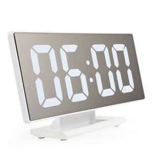 Alarm-Clock Night Led-Table Snooze-Display Time Desktop Digital Multifunction New White