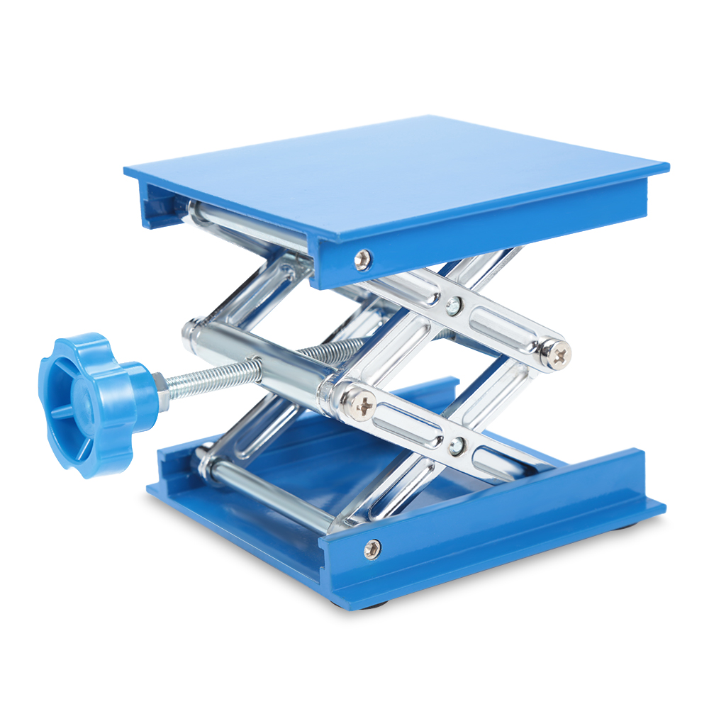 Aluminum Oxidation Lifting Platform Lab Jack With The Knob Adjustable Height Jack Scissor Stand Rack Laboratory Lab-Lift Lifting