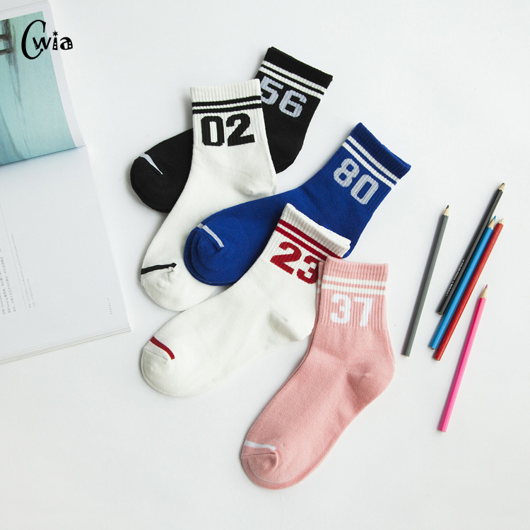 Combed Cotton Colorful Socks Men Women Cool Casual Dress Funny Party Dress Crew Socks 1pair=2pcs Ms20
