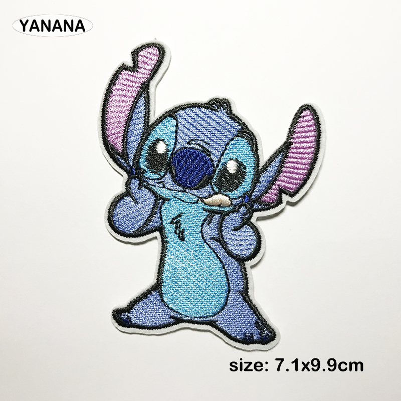 1 pcs Lovely cute exquisite Cartoon animation character Blue animal clothing patch