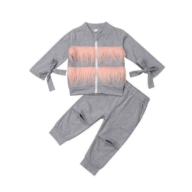 ac47e36c5 Infant Toddler Kids Baby Girls Cotton Tops +Pants Leggings 2Pcs ...