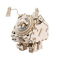 New Machine Dog Crafts DIY Innovative Gifts 3D Wooden Music Box Mechanical Music Box Robot Home Decoration