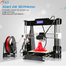 Anet A8 Desktop i3 DIY 3D Printer Kit with Large Printing Size Heated Bed Compatible for PLA ABS Wood 1.75mm Printing Filament