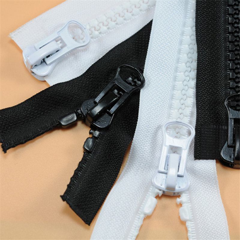 No.5 Resin Zippers For Sewing Coarse Tooth Double Open Double Zipper Sleeping Bag Tent Down Jacket Zipper Black White IQ006
