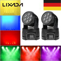 Show Disco Lamp AC100 240V 70W 9/14 Channels DMX 512 Disco Lamp Moving Head Light 4 In 1 RGBW LED Stage Light Lighting Strobe