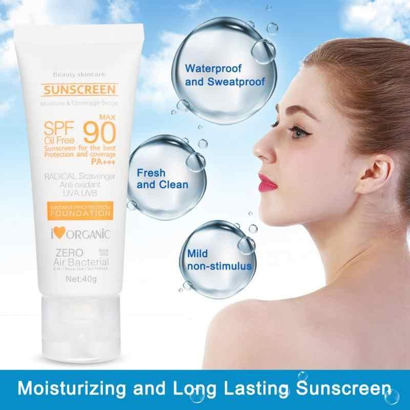 SPF50 + Suncreen UV קרינת שמש לחות הלבנת Sunblock קרם עור טיפול נבלות שמש מסך קרם