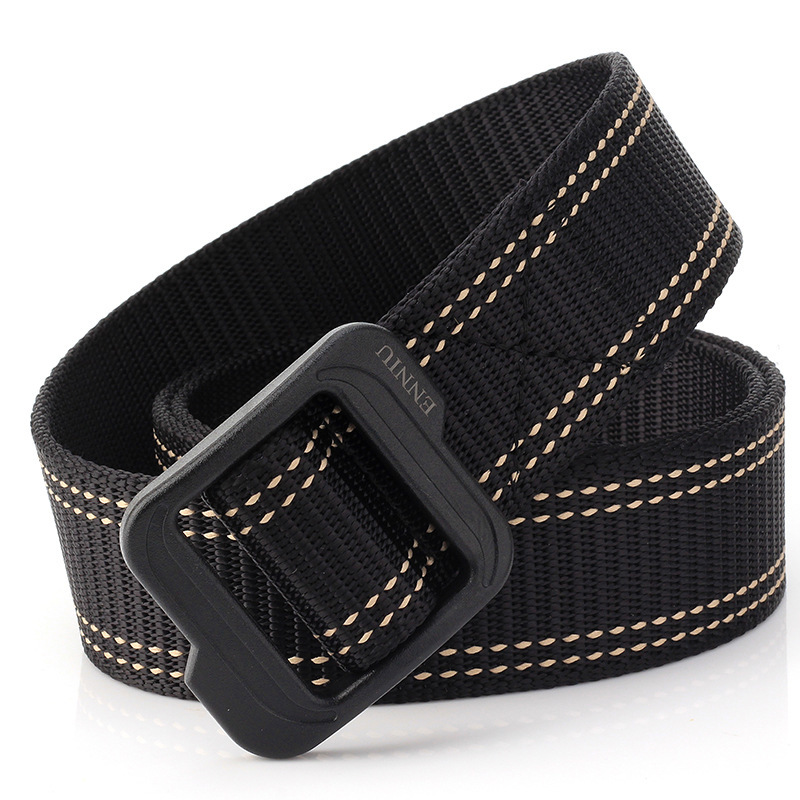Unisex Belts Cummerbunds Men's Smooth Canvas Belt Buckle Young Fashion Jeans With Students Canvas Belt