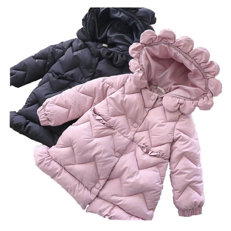 Fille manteau d'hiver rose solide à capuchon ver enfants veste pour fille parka nouvelle année costume équipement de bébé enfants vêtements de noël