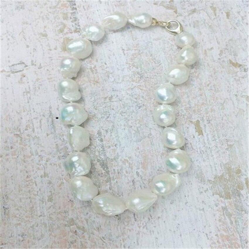 16-18mm naturel mer du sud baroquewhite collier de perles 18 pouces hypnotisant mode cadeau de mariage fête Aurora chaîne classique