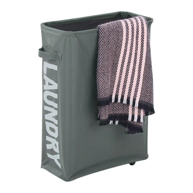 """15*7.3*22 """"Caixas De Armazenamento Dobrável Oxford Pano Cesto de Roupa Suja Cesto de roupa suja Com Cordão com 4 Rodas caixa de armazenamento de Sacos"""