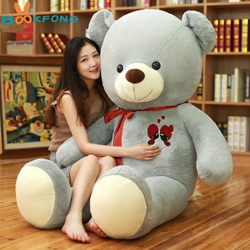 1PC Large Teddy Bear Plush Toy Lovely Giant Bear Huge Stuffed Soft Dolls Kids Toy Birthday Gift For Girlfriend