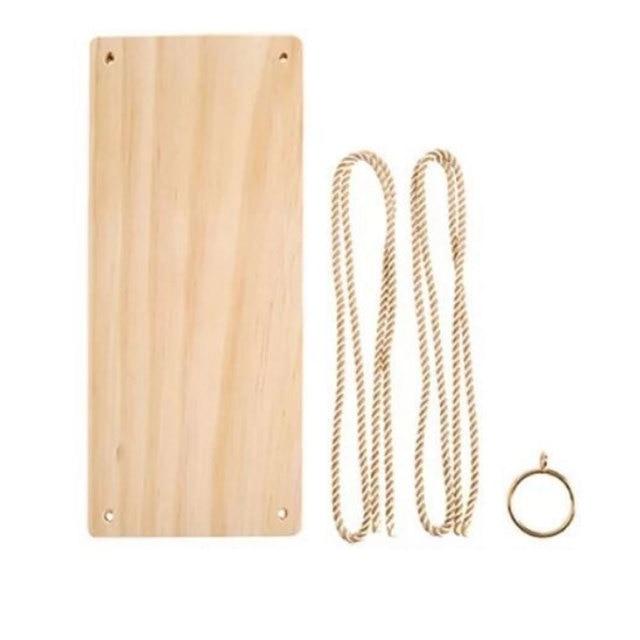 Nordic Wooden Rope Hanging Shelf