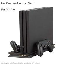 Game Console Stand For PS4 Pro/Slim Vertical Dock Dual Charging Station Playstation