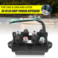 6H1 81950 00 00 3 Pin 12V+ 20% Trim Relay Boat Motor Power for Yamaha 30 90HP Engine 120A Waterproof Aluminum Bronze+Plastic