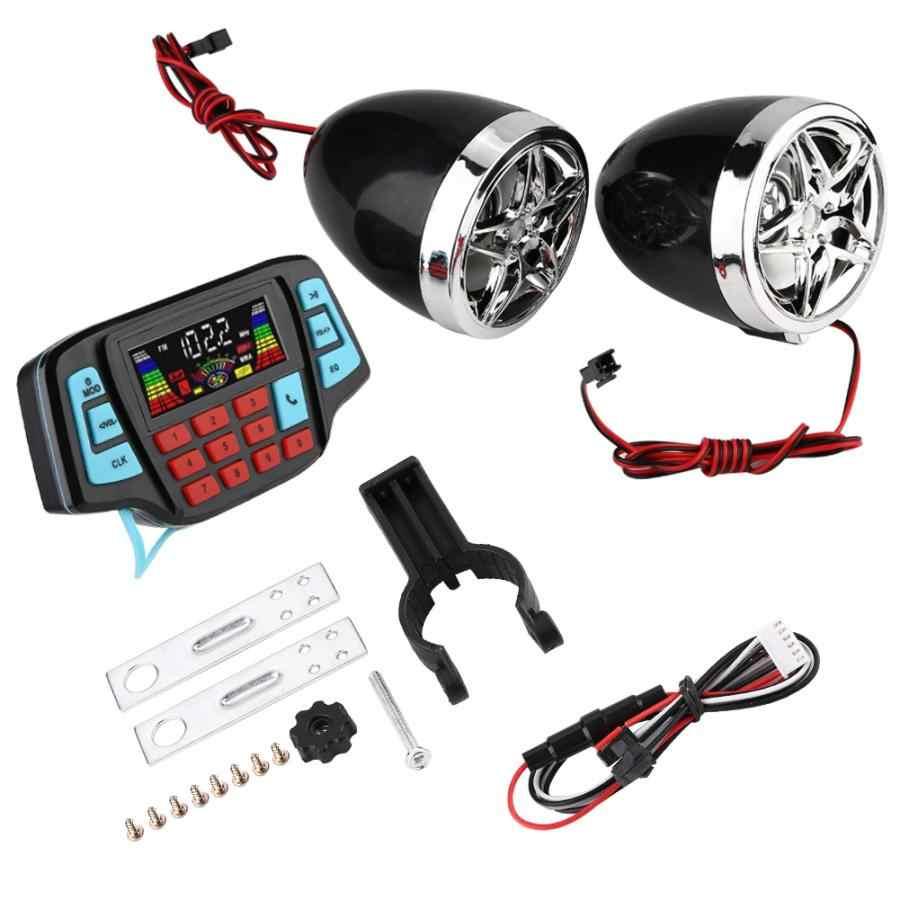 Motor Speaker Tahan Air Motor Bt MP3 Player Audio Sistem Speaker Stereo USB Kartu TF Carrier Altaboces Audio