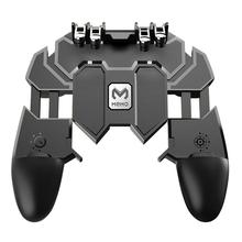 AK66 Six Finger All-in-One Mobile Handheld Game Player Gaming Controller Fire Key Joystick Gamepad L1 R1 Trigger Button For PUBG