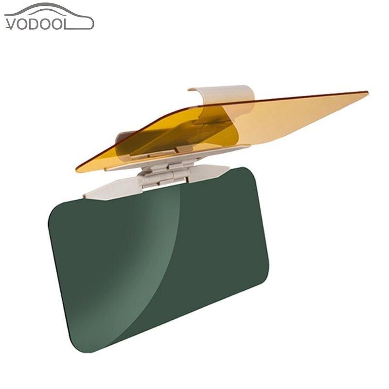 2 in1 viseira de sol do carro anti luz solar deslumbrante óculos de sol dia visão noturna interior espelho de condução uv dobrar virar para baixo visão clara