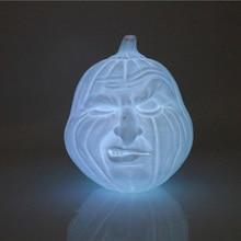 3D печать светодиодный ночник светодиодный Хэллоуин Pat лампа 3D напечатанная тыква форма лица лампа сенсорный и пульт дистанционного управления 16 цветов креативный