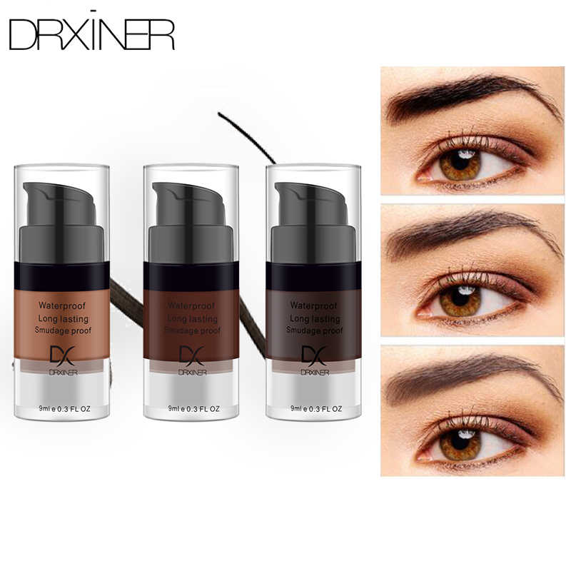Drxiner צבע גבה ג 'ל עמיד למים איפור צל לעיני גבות שעווה לאורך זמן גוון צל איפור צבע קוסמטי 9 ml