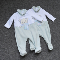 2019 New Newborn Baby Boys Girls Romper Cartoon Printed Long Sleeve Winter Cotton Romper Kid Jumpsuit Playsuit Outfits Clothing
