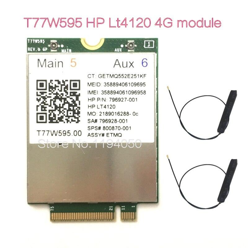 WDXUN lt4120 X5 Snapdragon LTE M.2 T77W595 796928-001 4G WWAN LTE de 150 Mbps modem para HP Elite x2 840 850 640 650 645 G2. G3 ..