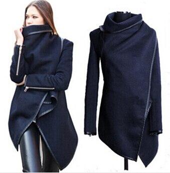 2019 femmes Trench manteaux longs cachemire pardessus Trench doudoune femme laine manteaux fourrure Manteau Abrigos Mujer