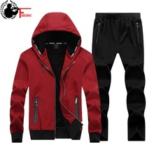 Winter Large Size Sweater Suit Male Hooded Fleece with Thickened Fat Kid Size Big Yards Male Tracksuit Set Men 7X 6XL 8XL