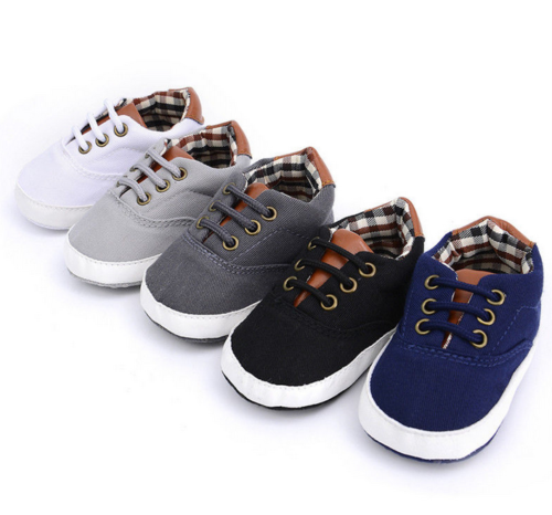 2019 Newborn Baby Boys Girls Soft Sole Crib Canvas Shoes Cute Boots Anti-slip Sneakers First Walkers Fashion Casual Flat Soft