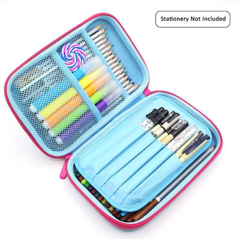 1pc Cute EVA Pencil Cases Bag Fruit Zipper Pencilcase Cartoon Student Large Capacity Pen Bag Holder Storage Stationery For Girls