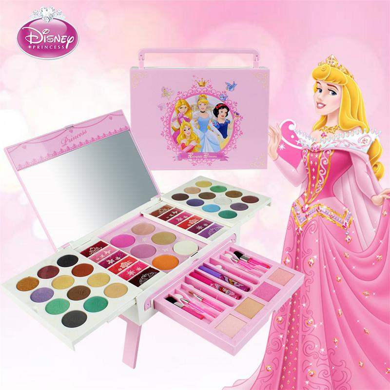 56pc Disney Child Safety Non toxic Lipstick Set Cosmetic Makeup Girl Performs House Toys Gift For Children Cosmetic Set For Kid