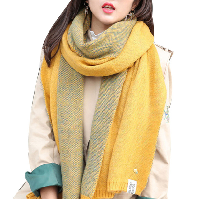 a09929065 Women Winter Cashmere Scarf Pineapple PIn Fashion Wool Knitted Scarves  Shawls Womens Thick Warmer Cowl Neck Winter Scarfs Stoles