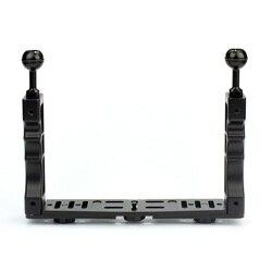 Stop aluminium CNC uchwyt rękojeści stabilizatora ręczny podwodne nurkowanie taca góra/LED światło dla Gopro lustrzanka cyfrowa