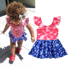 One Piece Swimsuit 2019 New Summer Girls Clothing Toddler Kids Baby Girls Tankini Dress Swimwear Swimsuit Bathing Suit Beachwear недорого