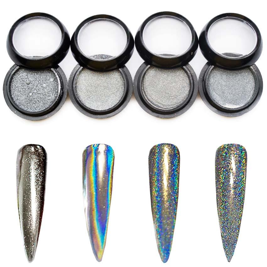 unicorn laser nail glitters holo
