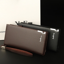 Europe And United States Casual Long Purse Zipper Clutch Bag Multi-Card Large Capacity Clutch Bag Men's Wallet недорого