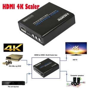 Image 2 - HDMI To HDMI 4K Scaler Amplifier HDMI Down / upscaler Converter With Zoom Aux Audio 3D 1080P For PS4 PS3 HDTV Blue DVD Portable