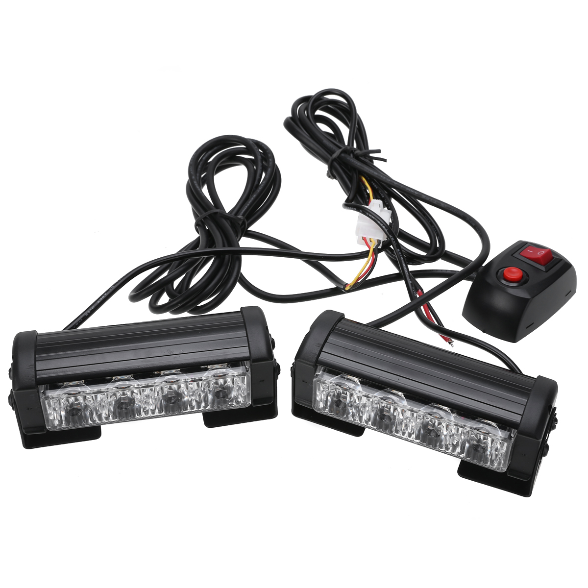 4 LED 4W Car Truck Strobe Flash Grille Light Warning Hazard Emergency Lamp Amber