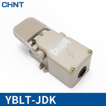 лучшая цена CHINT Foot Switch 220V 380V(AC) Since Reset Motor Foot Switch Pedal (50~60)Hz YBLT-JDK-11380V