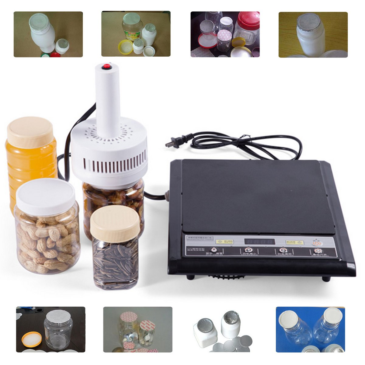 1200w Max Electromagnetic Induction Portable Handheld Induction Medical Plastic Bottle Cap Sealer Sealing Machine 20 100mm