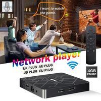 4+32 Network Player TV AI Voice Intelligent 4G Set top Box WIFI Home Wireless Remote Control AI TV Box Smart TV 4K Set Top Box